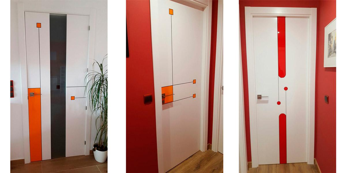 Puertas blancas con decoración - Rastrelo S.A. Carpintería de madera ...